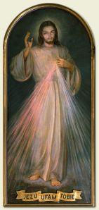 'The Divine Mercy' by Adolf Hyła (1943), Sanktuarium Bożego Miłosierdzia, Kraków