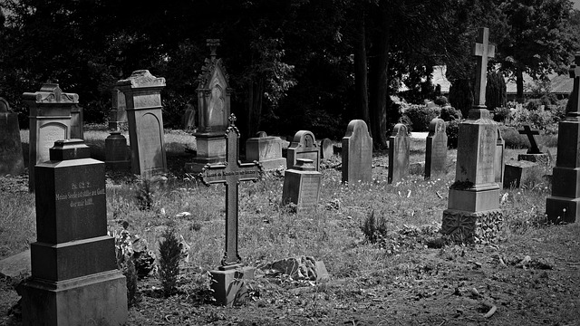 Cemetery Old Cemetery Cross Old Grave Stones Leave